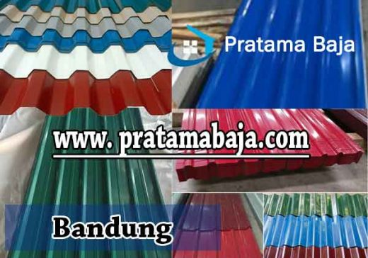 harga atap spandek warna Bandung