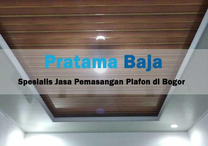 Harga Pasang Plafon PVC Bogor